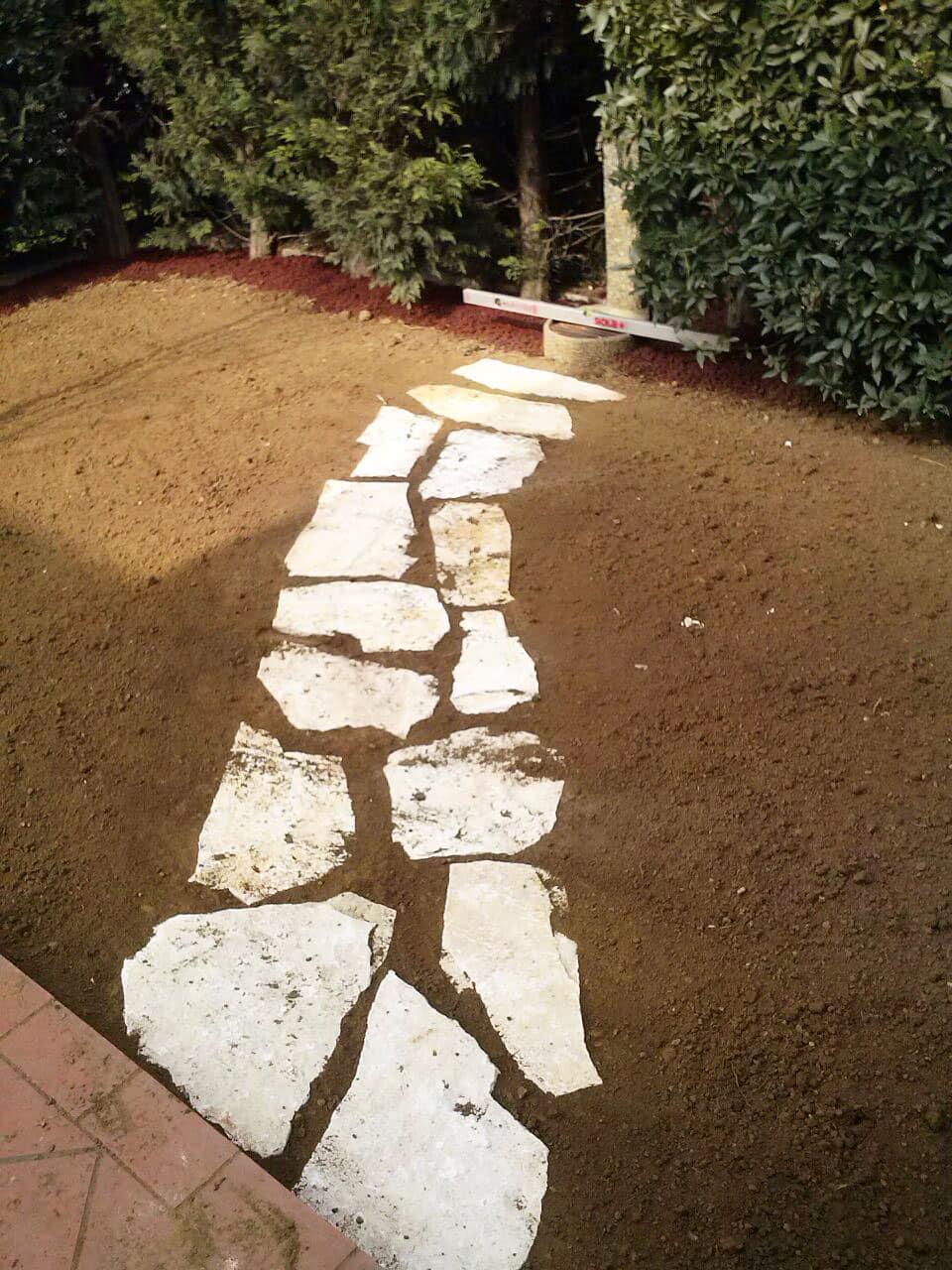 Muretti e camminamenti per giardini trifolium vicenza - Camminamento pietra giardino ...